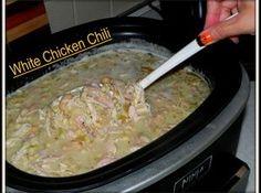 White Chicken Chili Recipe (easy/healthy - recipe from Christina)
