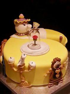 Beauty and the beast themed cake Marleighs birthday ideas