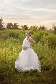 DIY Tulle Skirt Maternity Prop. Three layered tulle skirt