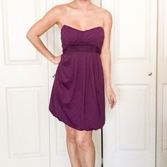 Purple strapless Guess dress Beautiful thick material. Only worn a few times.  Excellent condition. G by Guess Dresses