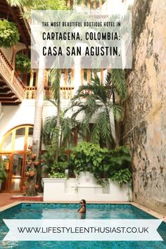 Best boutique hotel in Colombia - a blog review of boutique Casa San Agustin, Cartagena de Indias. The best luxury hotel in the Colombian Coast, in the heart of the walled city of Cartagena. Read full review on The Lifestyle Enthusiast blog #cartagena #cartagenadeindias #luxurytravel #southamerica