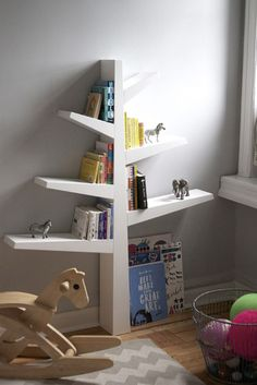 Babyletto Spruce Bookcase in Henry and Adela's Playful But Peaceful Shared Room