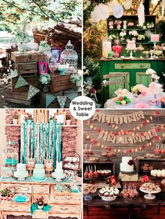 On s'inspire de ces tables gourmandes pour son mariage! #sweettable #candybar