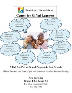 Center for Gifted Learners. New school for Gifted Children from grades 1- 8th.