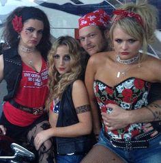 Pistol Annies and Blake Shelton... check out Angaleena's shirt...