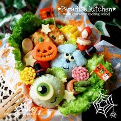 Monsters, Inc. Bento for Halloween