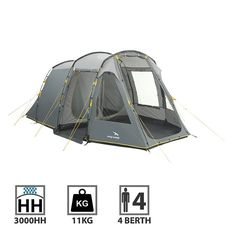 <p>An all-round family camping tent which sleeps four people in two bedrooms, the Wilmington 400 tunnel tent has ample headroom and living space with large windows for you to take in the view. Easy access in and out with two large opening side and front doors, just roll up and let the sun and light poor in! </p>