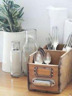 1000 images about silverware storage on pinterest for Vertical silverware organizer