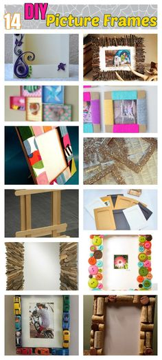 DIY Craft Ideas: 14 Captivating Photo Frame Ideas for Room Adornment. DIY Rustic wood and twig picture frames, some easy Popsicle and paper photo frame crafts for kids + Re-purposed wine cork and pallet picture frames too..
