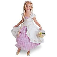 Disney Store Limited Edition Tangled Ever After Rapunzel Wedding Gown Halloween Costume Dress for Girls | Halloween Kids http://family-halloween-costumes.com/tangled