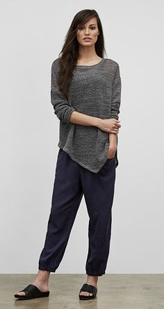 Our Favorite Fall Looks & Styles for Women   EILEEN FISHER - I can do this with the navy and gray reversed