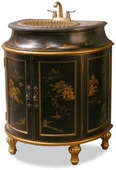 Chinoiserie vanity
