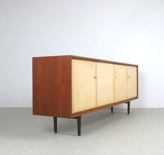 Otto Schulz; Rosewood and Maple Sideboard for Boet, 1950s.