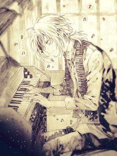 Allen Walker (アレン・ウォーカー), Moyashi (Bean Sprout, Kiełek fasoli), The Destroyer of time, Baka Deshi (Idiot Apperentice) Cute Anime Boy, Cute Anime Couples, I Love Anime, Anime Boys, D. Gray Man, D Gray Man Allen, Piano Anime, Anime Music, Manga Art