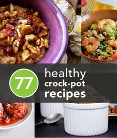 77 healthy crockpot recipes. #recipes #crockpot