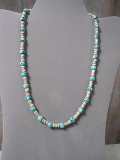 Mens NecklaceTurquoise NecklaceMens by LandofBridget on Etsy