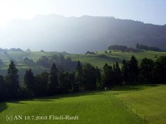 The view from the window early in the morning, Flüeli Ranft, Switzerland (photo AN) Early Morning, Switzerland, Golf Courses, Scenery, Window, Landscape, Windows, Paisajes, Nature