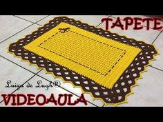 Croche-Passadeira Efeito 3D-Passo A Passo-Parte 1/2 - YouTube Crochet Home, Knit Or Crochet, Crochet Stitches, Crochet Patterns, Crochet Table Mat, Doilies, Bohemian Rug, Diy And Crafts, Knitting