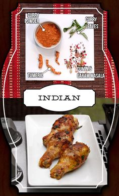 Indian-spiced grilled chicken legs