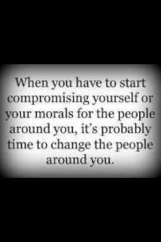 I've only left a few people behind in my life, but it was always for this reason.  Not gonna lower my standards for a few who set their own bars too low.