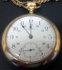 Antique 1892 Waltham P.S. Bartlett Gold Plated 17 Jewel Adjusted Pocket Watch