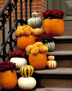 Fall decor for the front stoop by Posh Mama, via Flickr