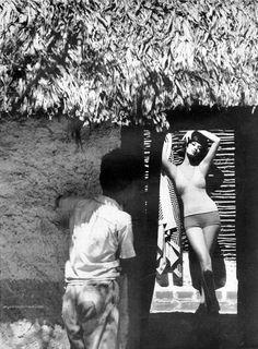 Photos by Saul Leiter, Model Simone D'Aillencourt, Harper's Bazaar, January 1960.