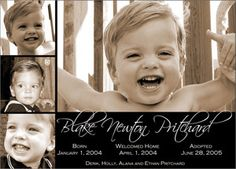 photo adoption announcements
