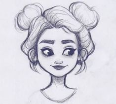 Drawing Pencil Inspiration Character Design Trendy Ideas for more visit website Girl Drawing Sketches, Pencil Art Drawings, Sketch Art, Cartoon Drawings, Drawing Ideas, Drawing Faces, Girl Face Drawing, Hair Drawings, Drawing Girls