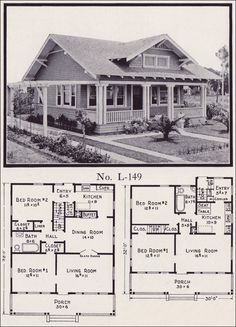 1922 Stillwell Craftsman Bungalow Plan No