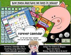 The Forever Calendar for SMARTboard is for EVERY month of the year! You might not have to ever buy another Morning Time, Circle Time, Carpet Time, Meeting Time, whatever you call your Calendar Time ever again.    This calendar includes so many Common Core essentials including:  Calendar Skills: placing the numbers in order, discovering patterns, reviewing days of the week, reviewing months of the year, yesterday-today-tomorrow, calendar questions for each day of the month. $