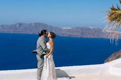 eternal kiss santorini caldera view forever in love beautiful couple