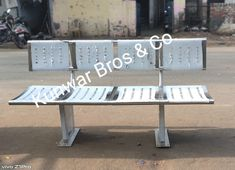 One of the best Stainless steel railway bench manufacturer in India. Contact us for more information Kunwar Bros & Co. C-341, Sector -10, Noida-201301 (U.P.) India Tel - 0120 4115709, www.kunwarbros.co.in, www.kunwarbros.co, www.kunwarbros.com, www.kunwarbros.in, www.kbsnco.blogspot.com  Ss 304, Stainless Steel Doors, Security Door, Outdoor Furniture, Outdoor Decor, Bench, Platform, India, Home Decor