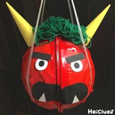 Diy And Crafts, Crafts For Kids, Arts And Crafts, Halloween, Spring, Outdoor Decor, Red, Asia, Japan