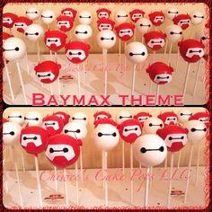 Baymax cake pops