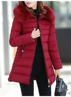 Hooded Plain Long Sleeve Coats - Look Fashion Casual Skirt Outfits, Trendy Outfits, Mens Winter Coat, Winter Coats, Winter Clothes, Winter Wear, Discount Womens Clothing, Bohemian Style Clothing, Winter Outfits Women