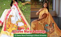 15 Beautiful Saree Mural Paintings and Mural Artworks | http://myartmagazine.com/mural-artworks | Art Magazine http://myartmagazine.com | Follow us www.pinterest.com/myartmagazine