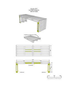 Tisch Paletten bauen Ansichten