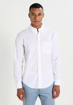 Abercrombie & Fitch Chemise - white - ZALANDO.FR Abercrombie Fitch, Chef Jackets, Shirt Dress, Mens Tops, Shirts, Dresses, Fashion, Dress Shirt, Vestidos