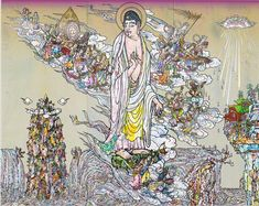 Takashi Murakami, 'Amitābha Buddha descends, Looking over his shoulder,' 2015
