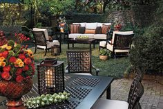 Outdoor lounge chairs and sofa in cast aluminum - traditional - patio - birmingham - by Summer Classics