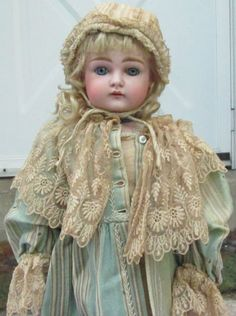 Early-XI-Antique-Kestner-German-Bisque-head-doll-