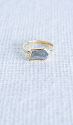 Katie Diamond Labradorite Una Ring