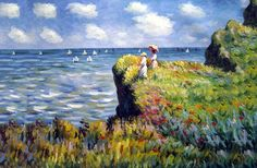 Over 400 Claude Monet oil paintings on canvas are available at off retail. These Monet oil painting reproductions are custom hand-painted on canvas. Monet Paintings, Impressionist Paintings, Landscape Paintings, Abstract Paintings, Painting Art, Claude Monet, Renoir, Artist Monet, Camille Pissarro