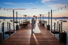 Wedding Gown by Liancarlo | West Shore Cafe Wedding by One Fine Day Events | Featured on Tahoe Unveiled Blog
