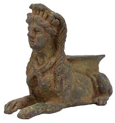 Sadigh Gallerys Ancient Greek Bronze Sphinx 400  BC