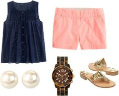 preppy summer by kelmal featuring sleeveless tops ❤ liked on