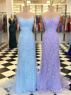 e11376bf8d2aa Spaghetti Strap Sky Blue Mermaid Prom Dresses Backless Pageant Formal Dress  ARD1783