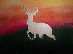 White Hart at Sunset by Ty