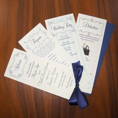 Modern Vintage Wedding Program by additionalpostage on Etsy, $5.00